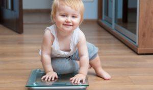 Соотношение роста и веса у детей до года